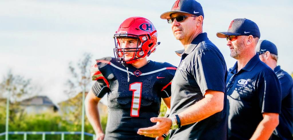 Jack Lumsden coaching Burlington football team