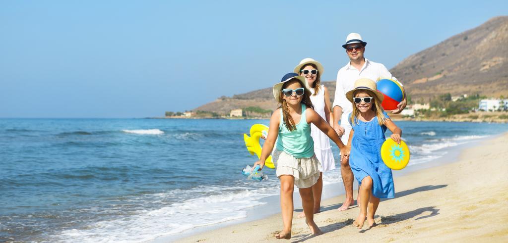 Vacances sous le soleil en famille