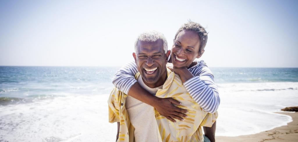 black couple on beach