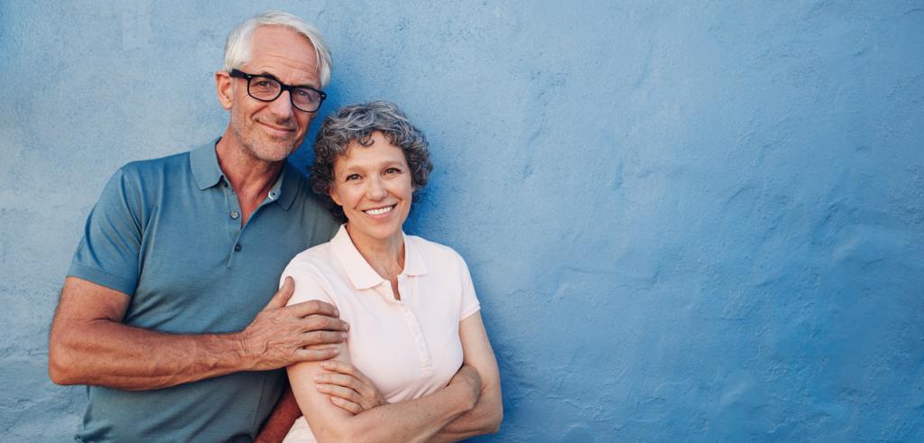 Portrait de couple de retraités