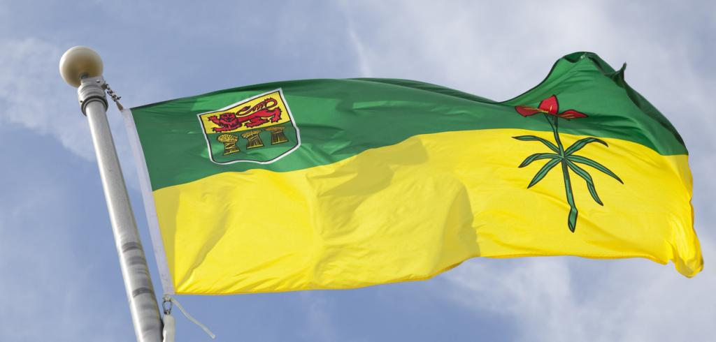 Provincial flag for Saskatchewan