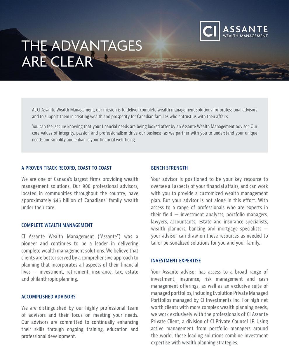 Thumbnail of Assante's corporate profile document