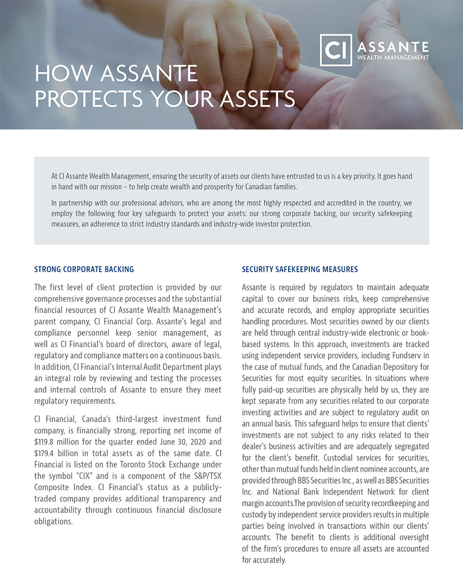 Thumbnail of Assante's 'How Assante Protects Your Assets' document